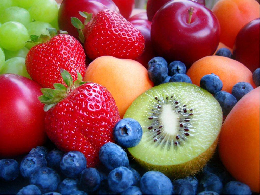 manzana y frutas